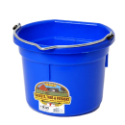 DuraFlex 8 Quart Flat Back Bucket P8FB