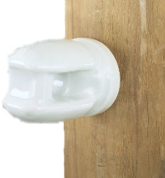 DARE Porcelain Line Insulator w/ Lag Bolt