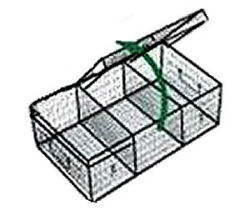 Three Compartment Show Cage w/Drip Pan