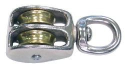 Batz Double Pulley with Swivel Round Eye