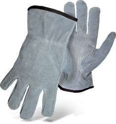 Boss® Gray Split Cowhide Leather Driver Gloves