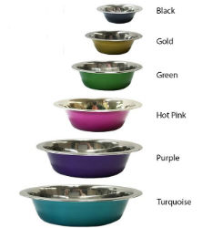 Valhoma® Stainless Steel Colored Bowl  - Coastal Ag Supply