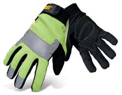 CAT® High-Visibility Padded Palm Utility Gloves