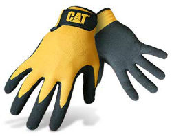 CAT® Yellow Nylon Nitrile Coated Palm Gloves
